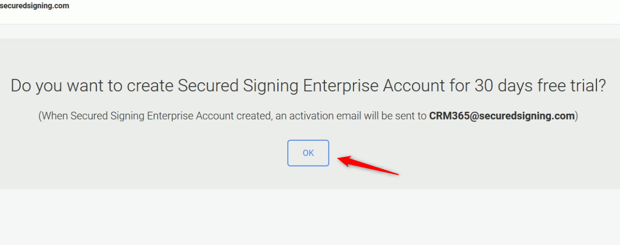 Create Enterprise Account Trial for 30 Days