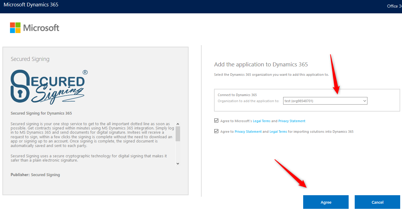 Choose which Dynamics 365 instance you want