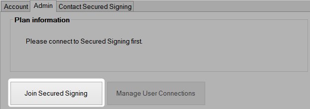Secured Signing Settings panel