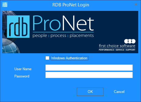 Secured Signing - Login to RDB Pronet