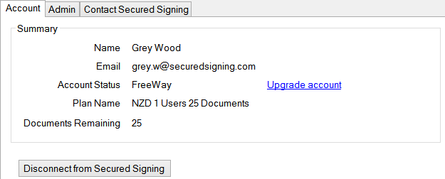 Register a Secured Signing free account successfully