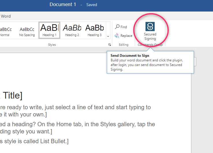 Install Secured Signing Plugin for Microsoft Word