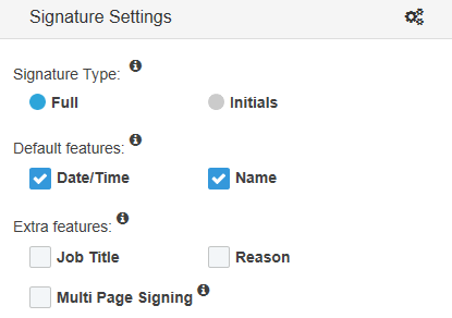 Set your graphical signature settings
