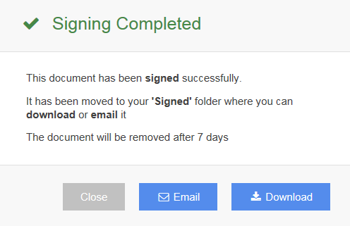 Digitally sign your document