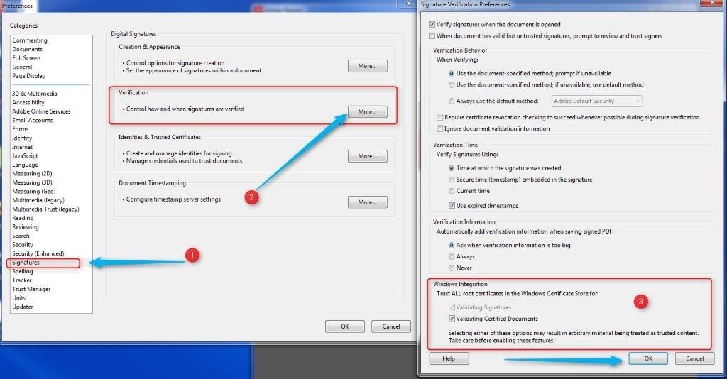 Verifying Digital Signatures with Adobe Reader XI