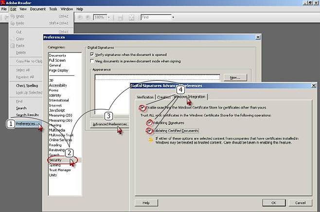 Verifying Digital Signatures with Adobe Reader 8
