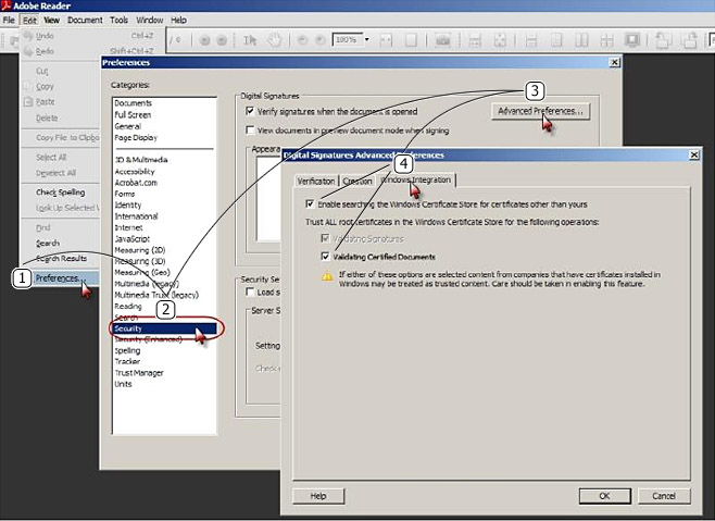 Verifying Digital Signatures with Adobe Reader 9