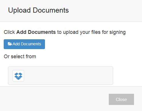 Upload a document to Secured Signing